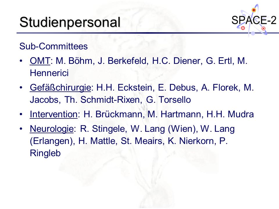 Studienpersonal Sub-Committees
