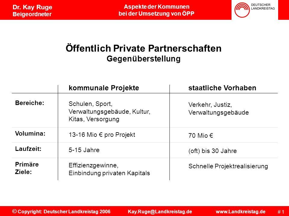 bei der Umsetzung von ÖPP Öffentlich Private Partnerschaften