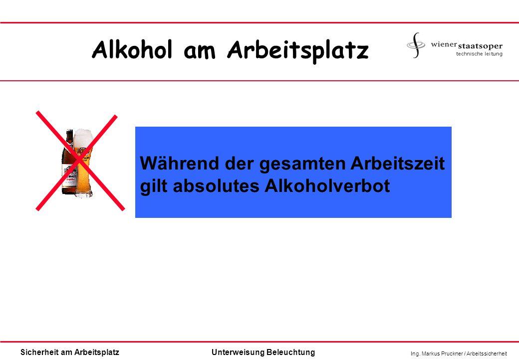 Alkohol am Arbeitsplatz