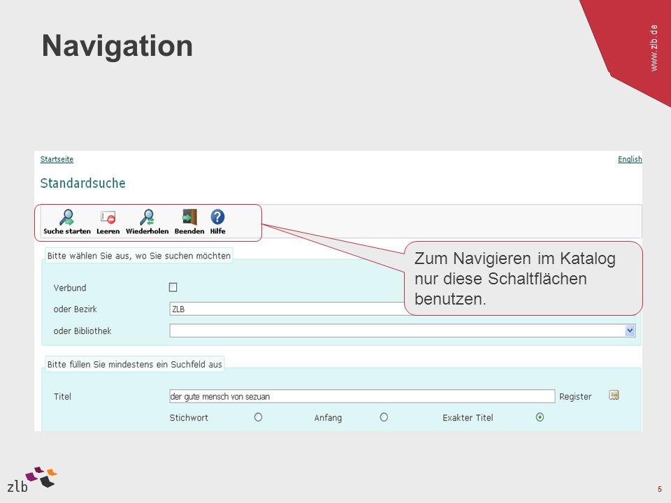 Navigation Zum Navigieren im Katalog nur diese Schaltflächen benutzen.