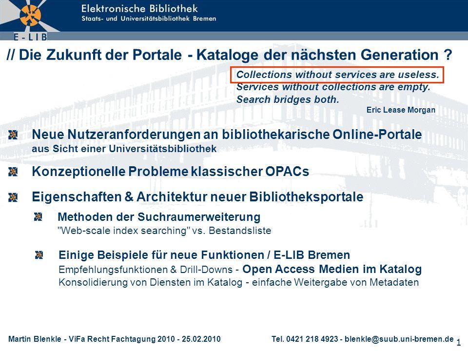 // Die Zukunft der Portale - Kataloge der nächsten Generation