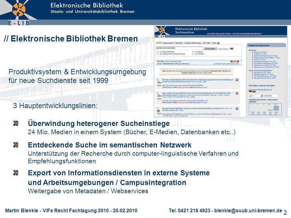 // Elektronische Bibliothek Bremen