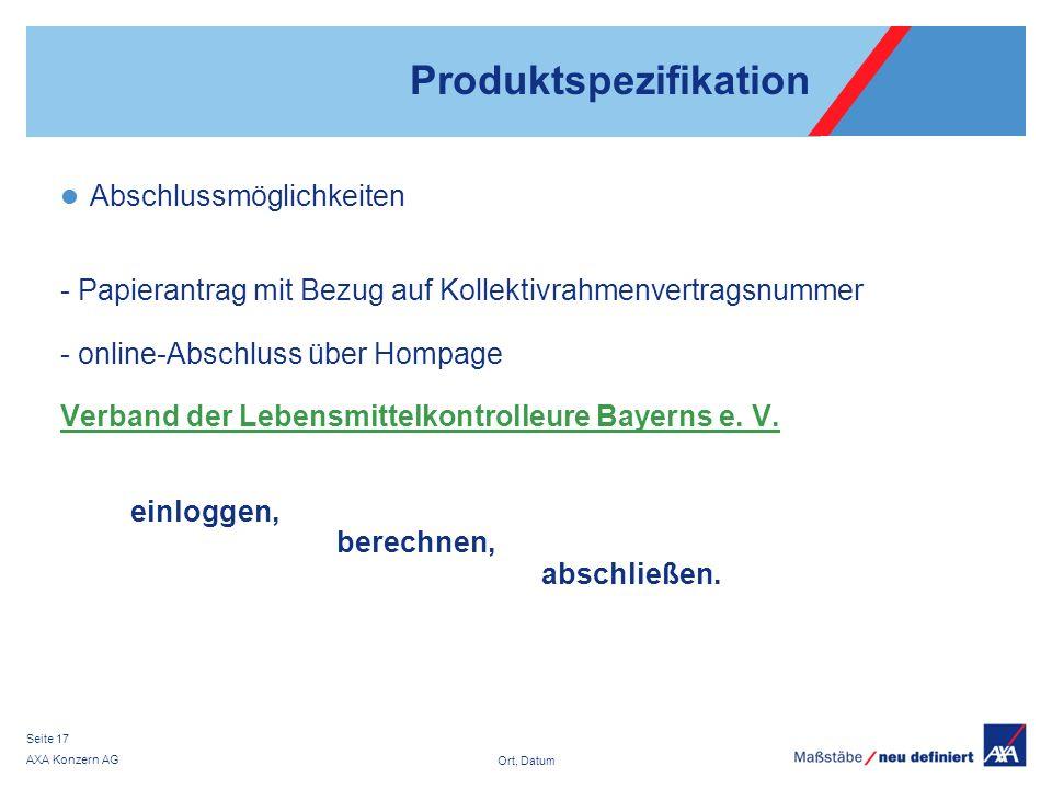 Produktspezifikation