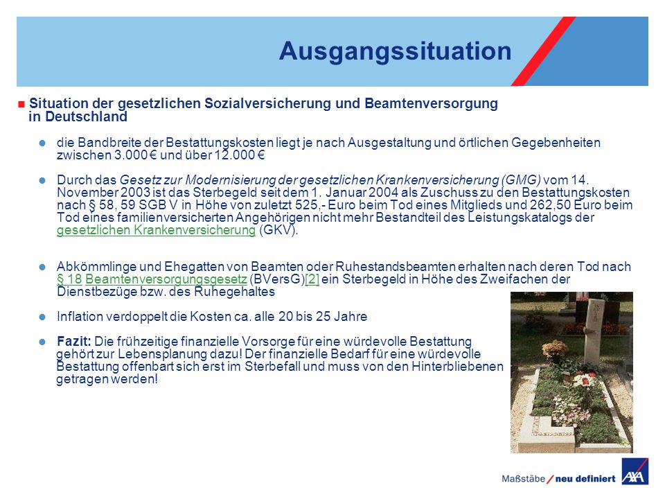 Ausgangssituation Situation der gesetzlichen Sozialversicherung und Beamtenversorgung. in Deutschland.
