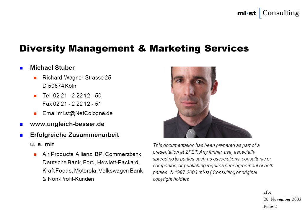 Diversity Management & Marketing Services