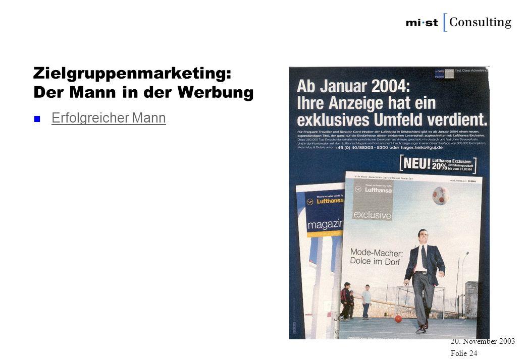 Zielgruppenmarketing: Der Mann in der Werbung