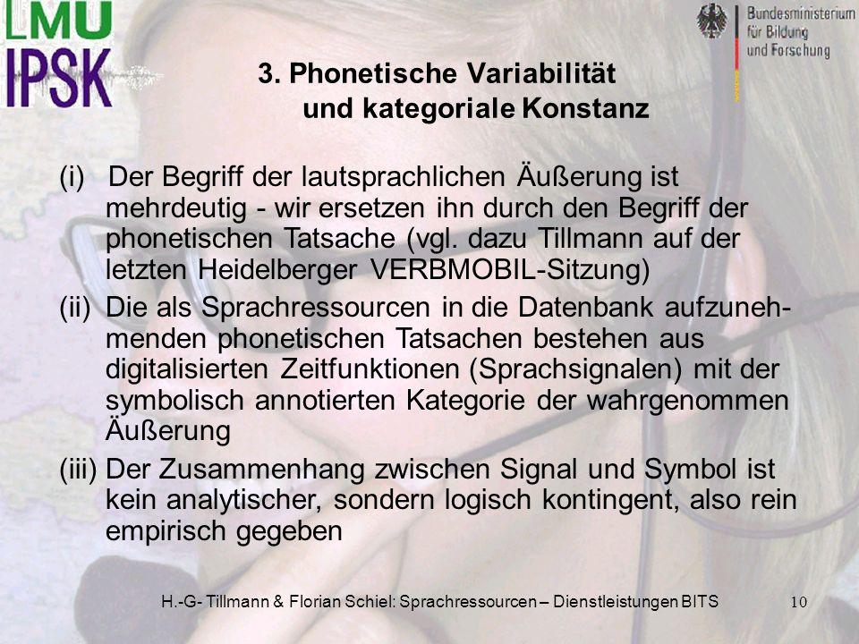 3. Phonetische Variabilität und kategoriale Konstanz