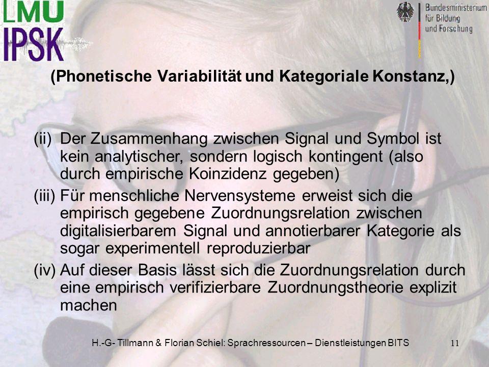 (Phonetische Variabilität und Kategoriale Konstanz,)