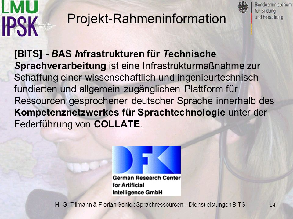 Projekt-Rahmeninformation