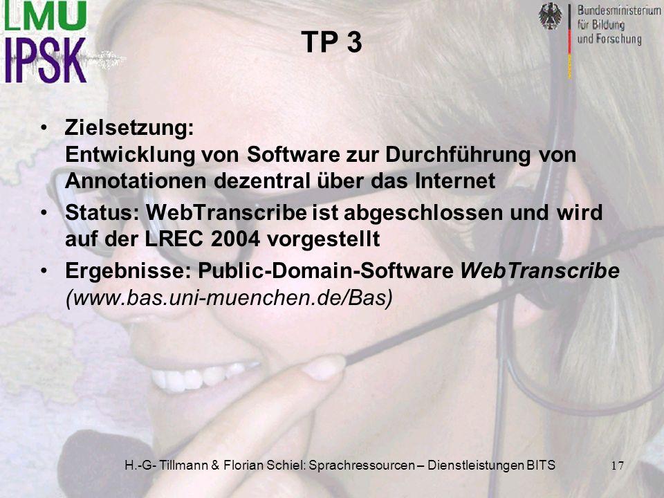 TP 3 Zielsetzung: Entwicklung von Software zur Durchführung von Annotationen dezentral über das Internet.