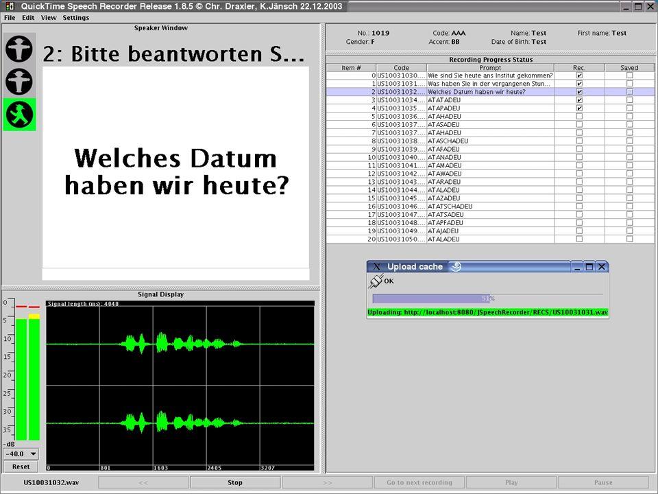 TP 4 H.-G- Tillmann & Florian Schiel: Sprachressourcen – Dienstleistungen BITS