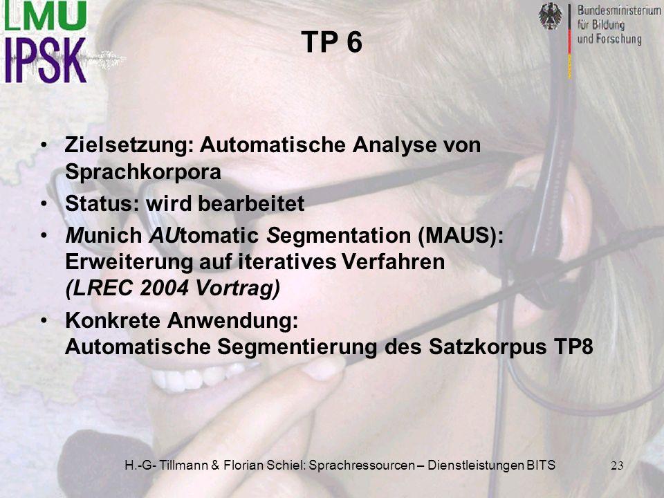 TP 6 Zielsetzung: Automatische Analyse von Sprachkorpora