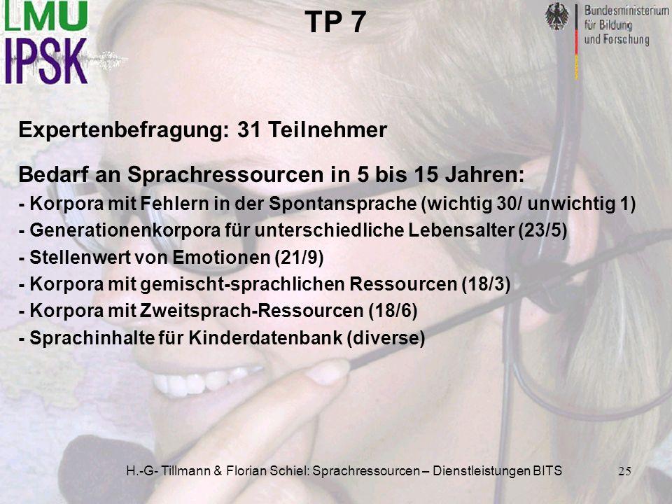 TP 7 Expertenbefragung: 31 Teilnehmer