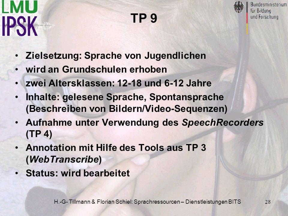 TP 9 Zielsetzung: Sprache von Jugendlichen