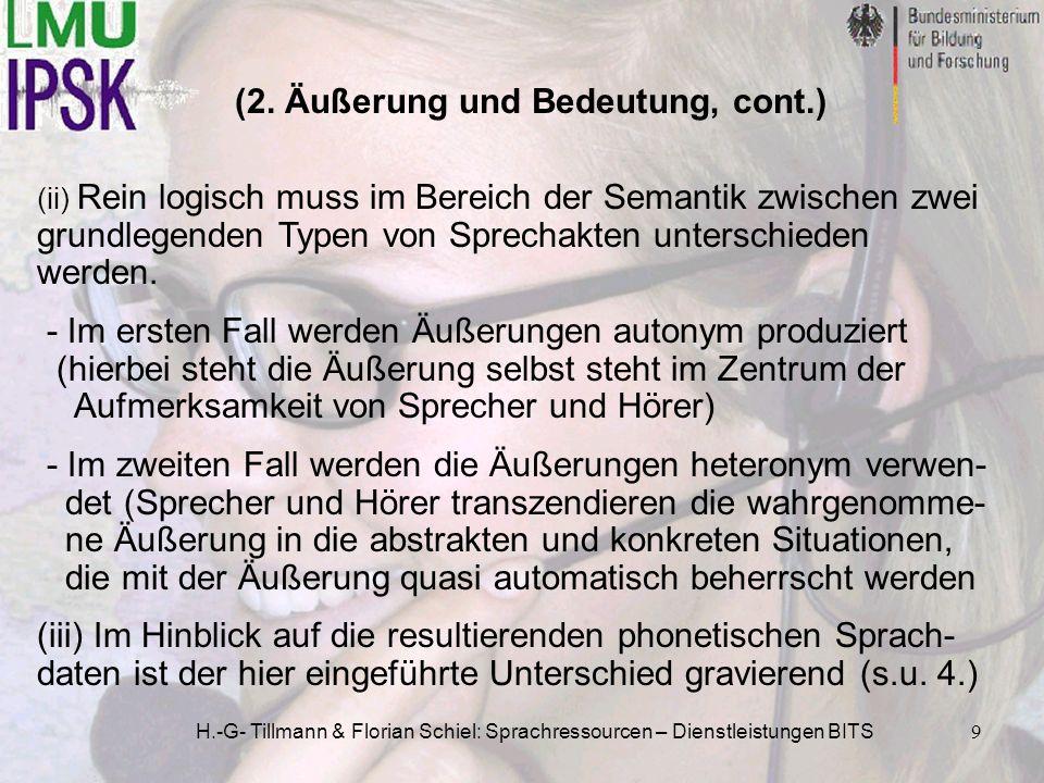 (2. Äußerung und Bedeutung, cont.)