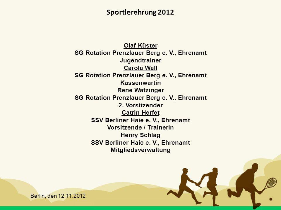 Sportlerehrung 2012 Olaf Küster