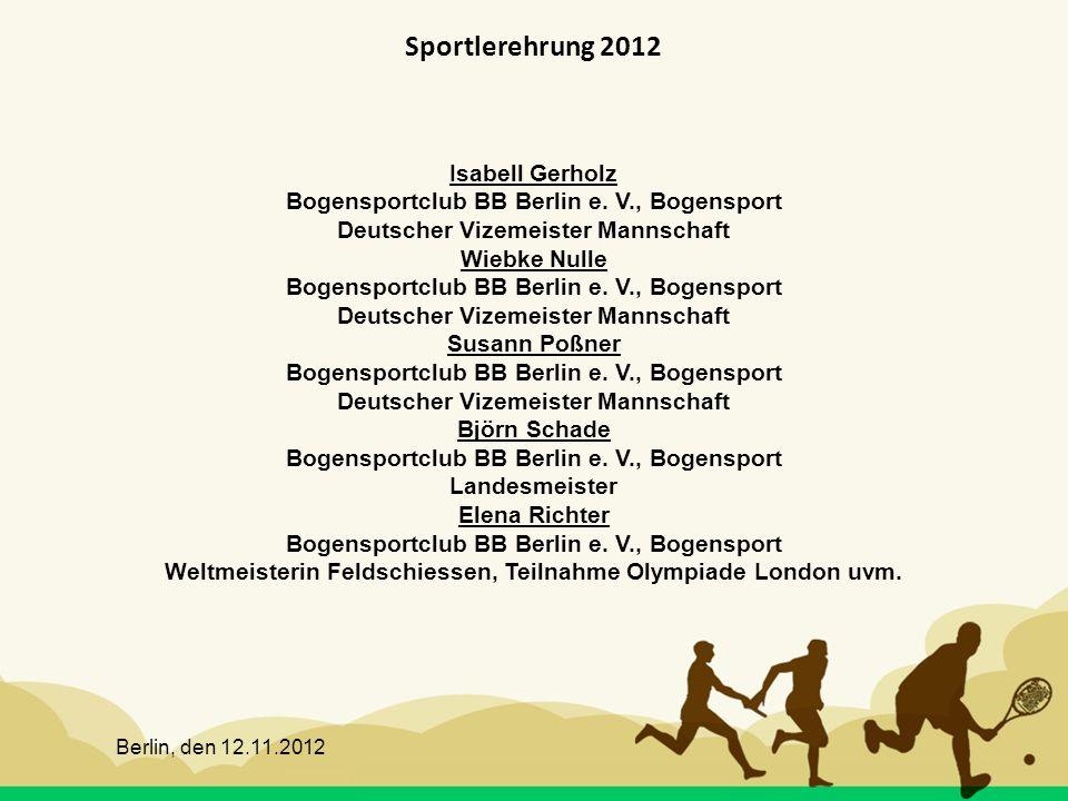 Sportlerehrung 2012 Isabell Gerholz