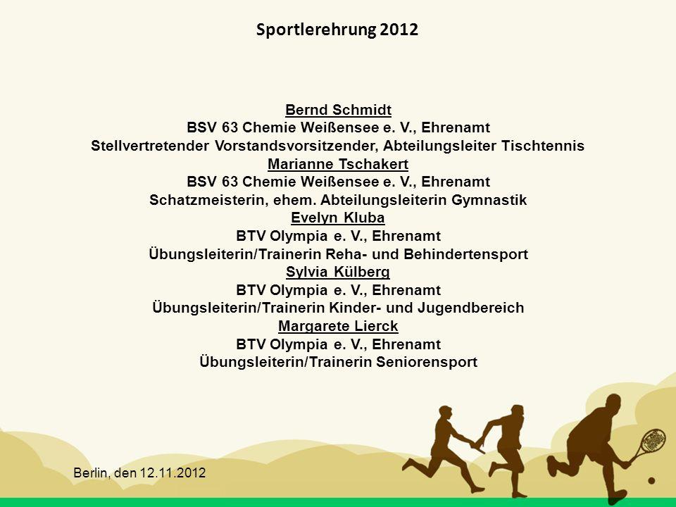 Sportlerehrung 2012 Bernd Schmidt