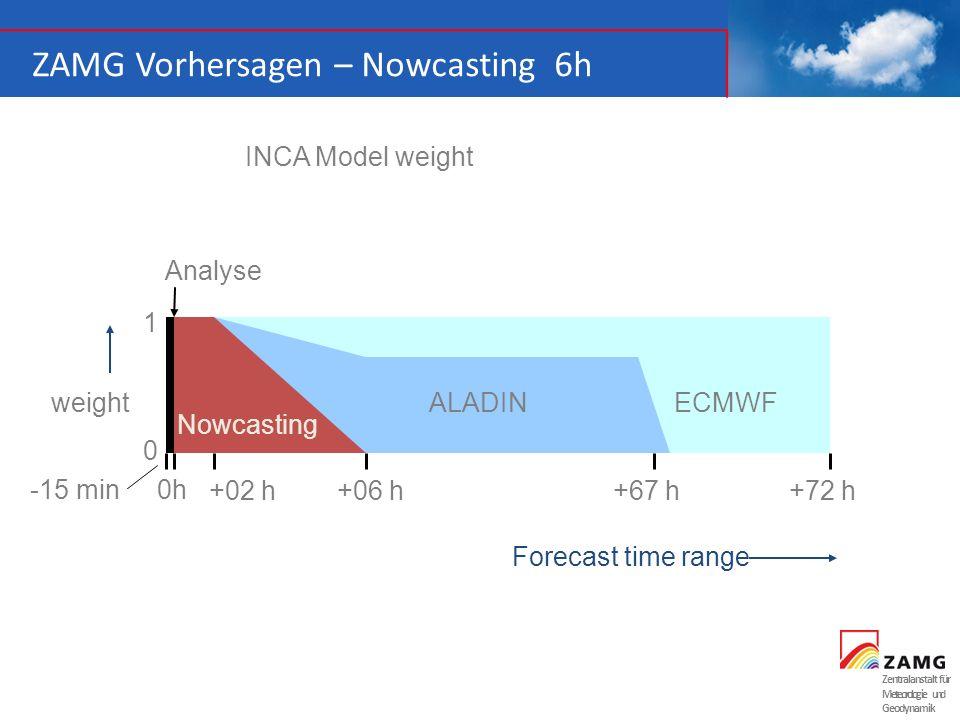 ZAMG Vorhersagen – Nowcasting 6h