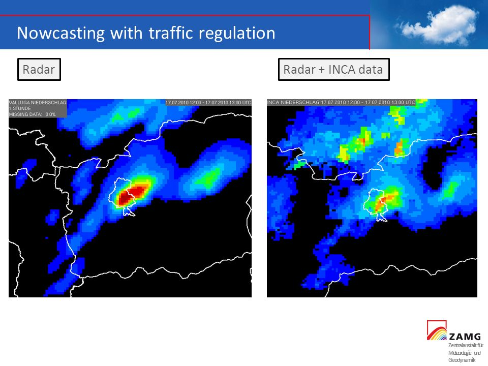 Nowcasting with traffic regulation