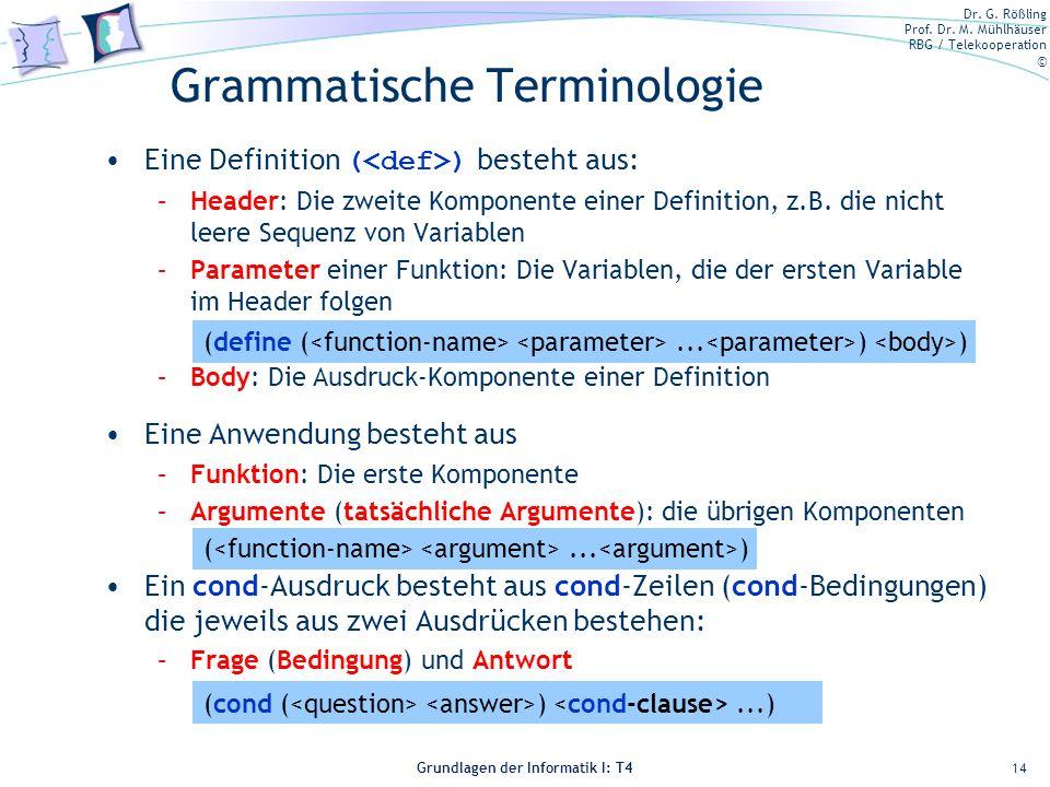 Grammatische Terminologie