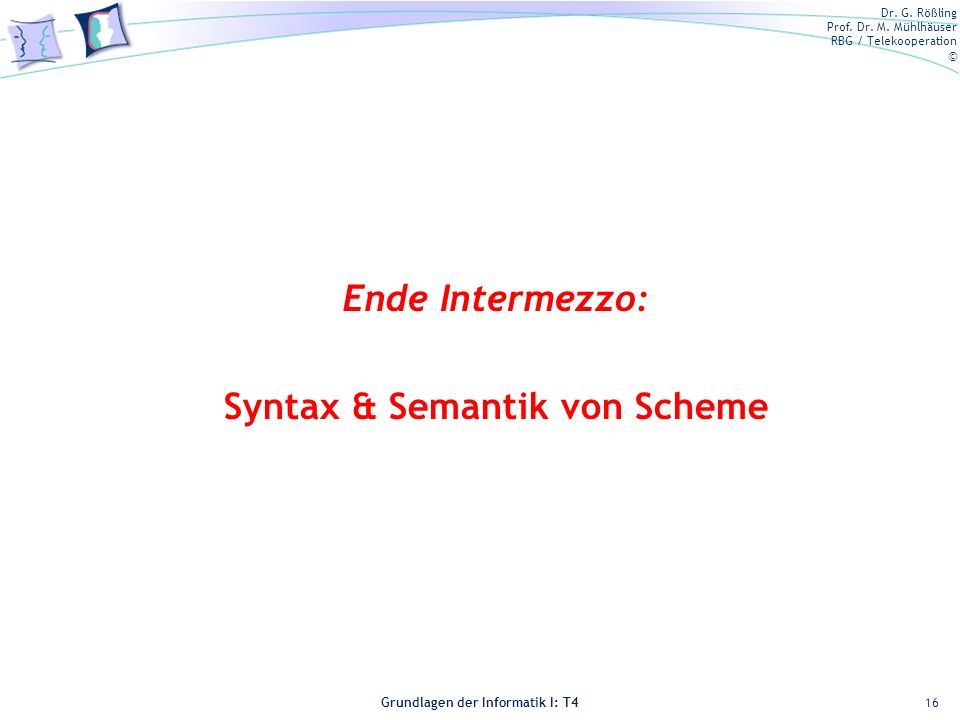 Syntax & Semantik von Scheme