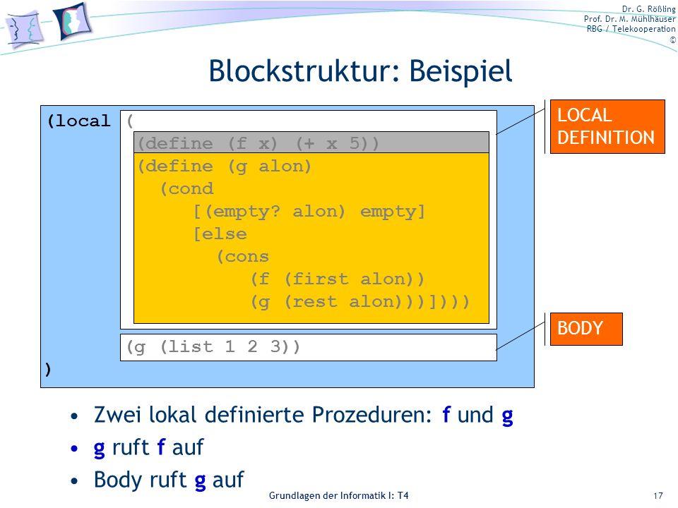 Blockstruktur: Beispiel