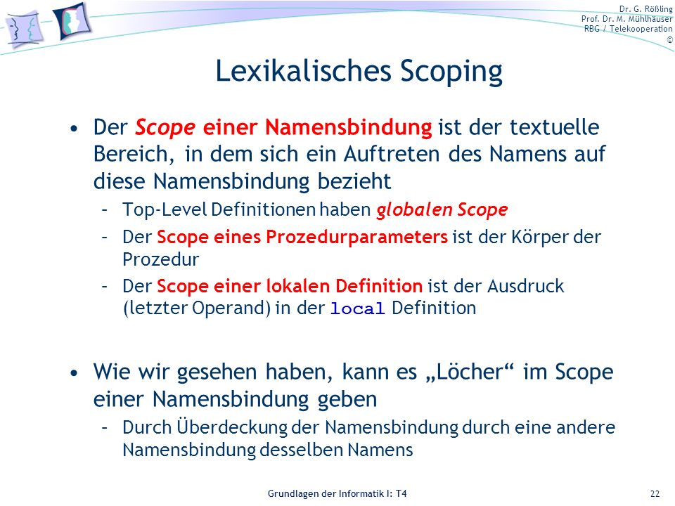 Lexikalisches Scoping