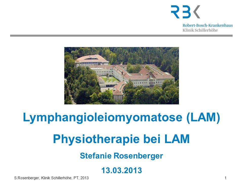 Lymphangioleiomyomatose (LAM) Physiotherapie bei LAM