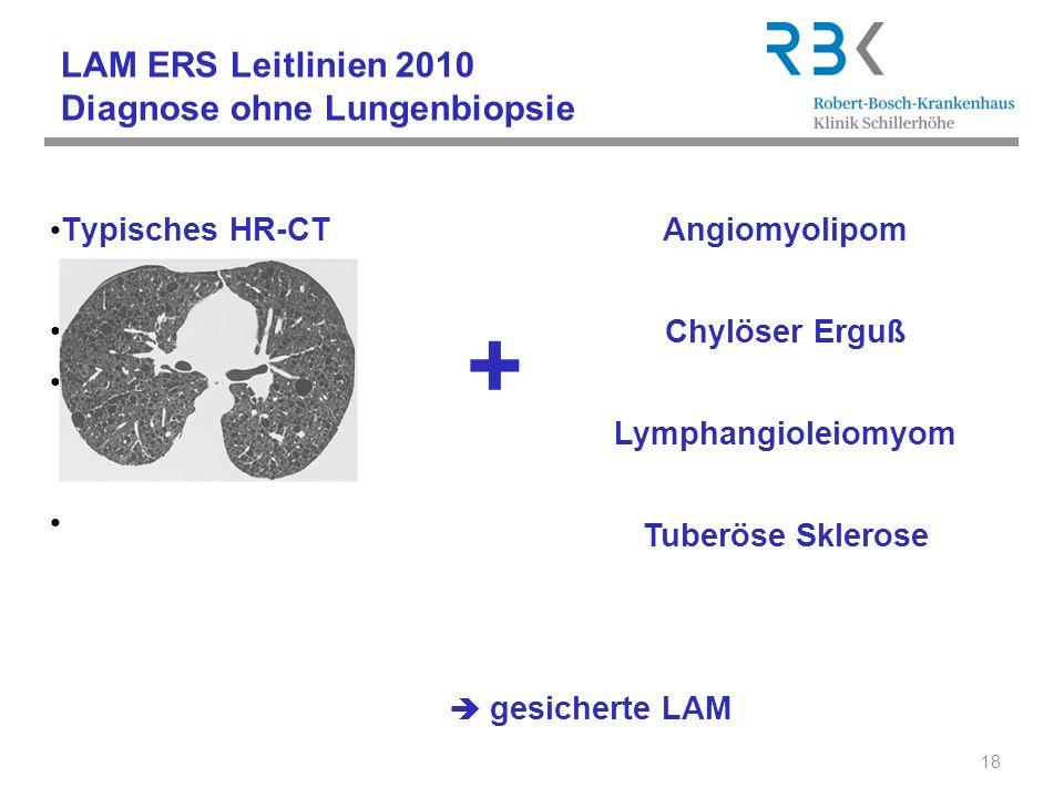 LAM ERS Leitlinien 2010 Diagnose ohne Lungenbiopsie