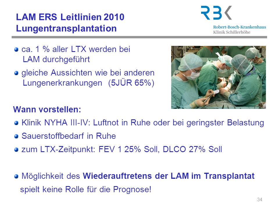 LAM ERS Leitlinien 2010 Lungentransplantation
