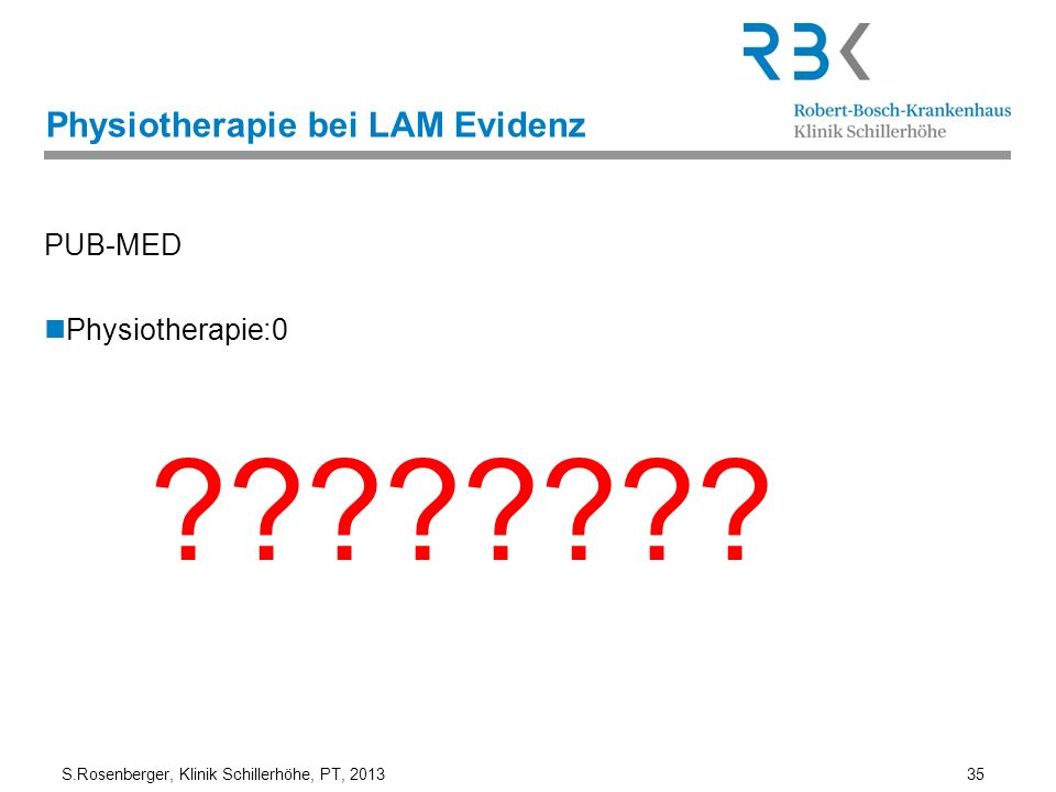 Physiotherapie bei LAM Evidenz
