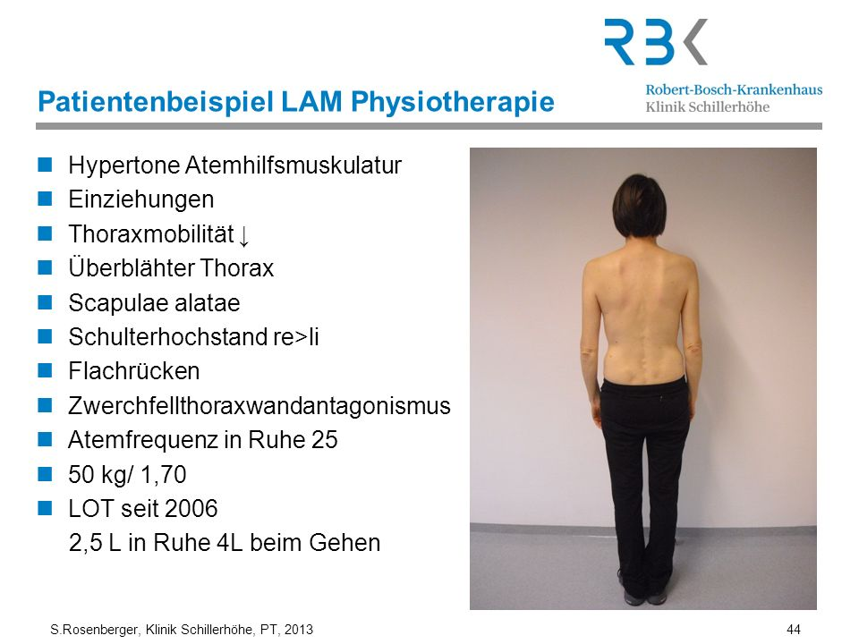 Patientenbeispiel LAM Physiotherapie