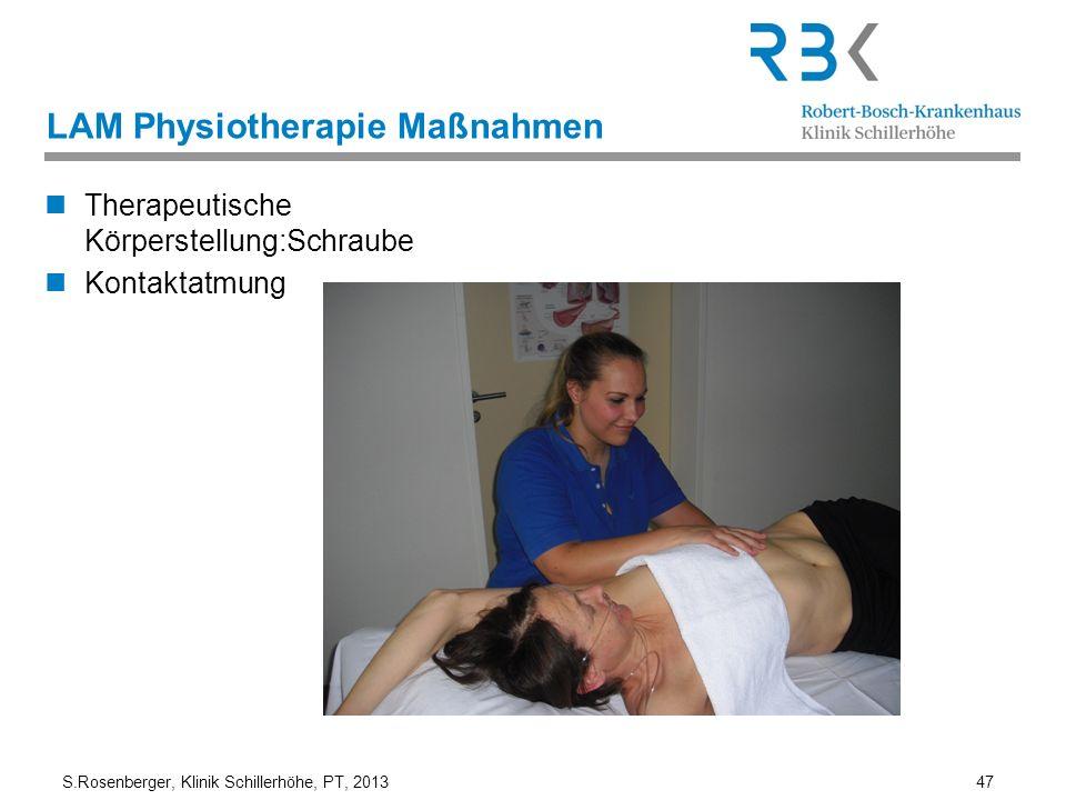 LAM Physiotherapie Maßnahmen