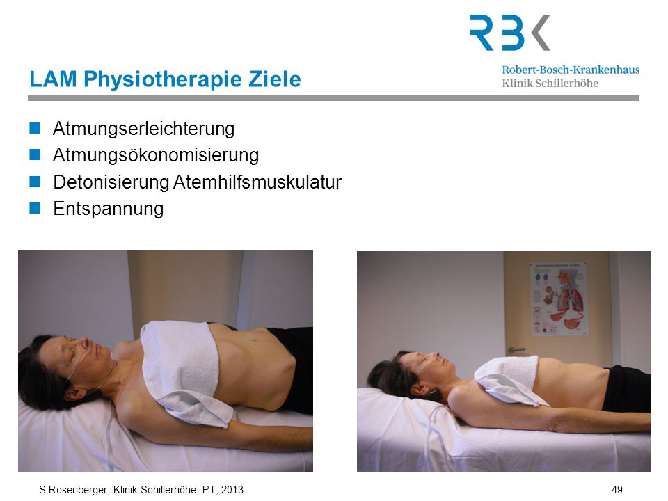 LAM Physiotherapie Ziele