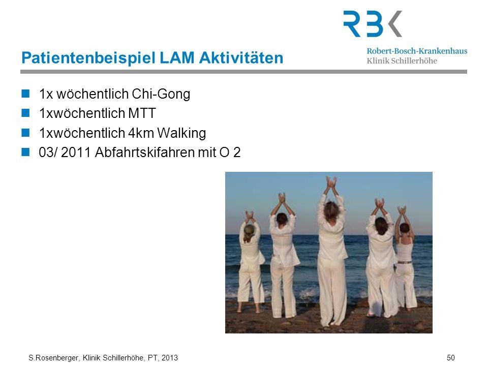 Patientenbeispiel LAM Aktivitäten