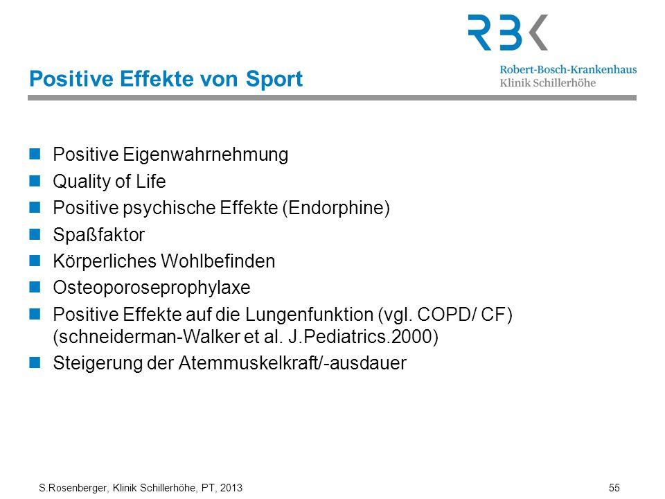 Positive Effekte von Sport