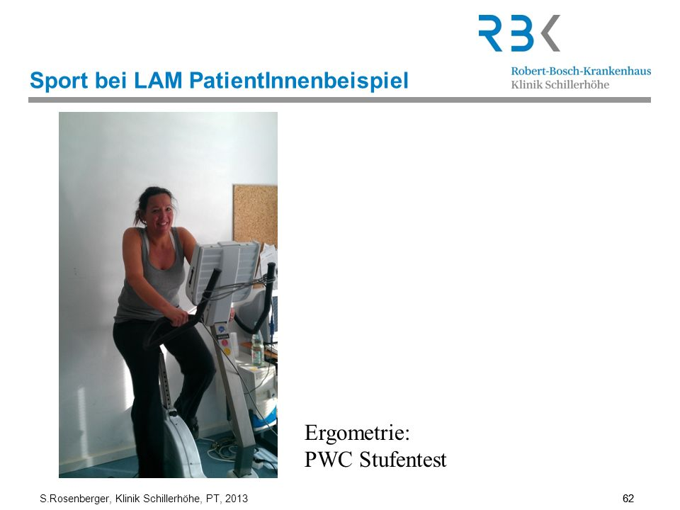 Sport bei LAM PatientInnenbeispiel