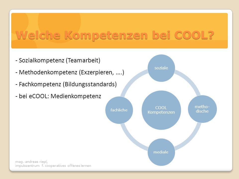 Welche Kompetenzen bei COOL