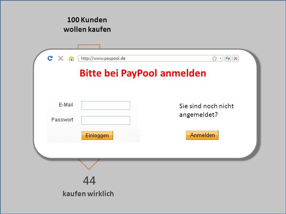 Bitte bei PayPool anmelden