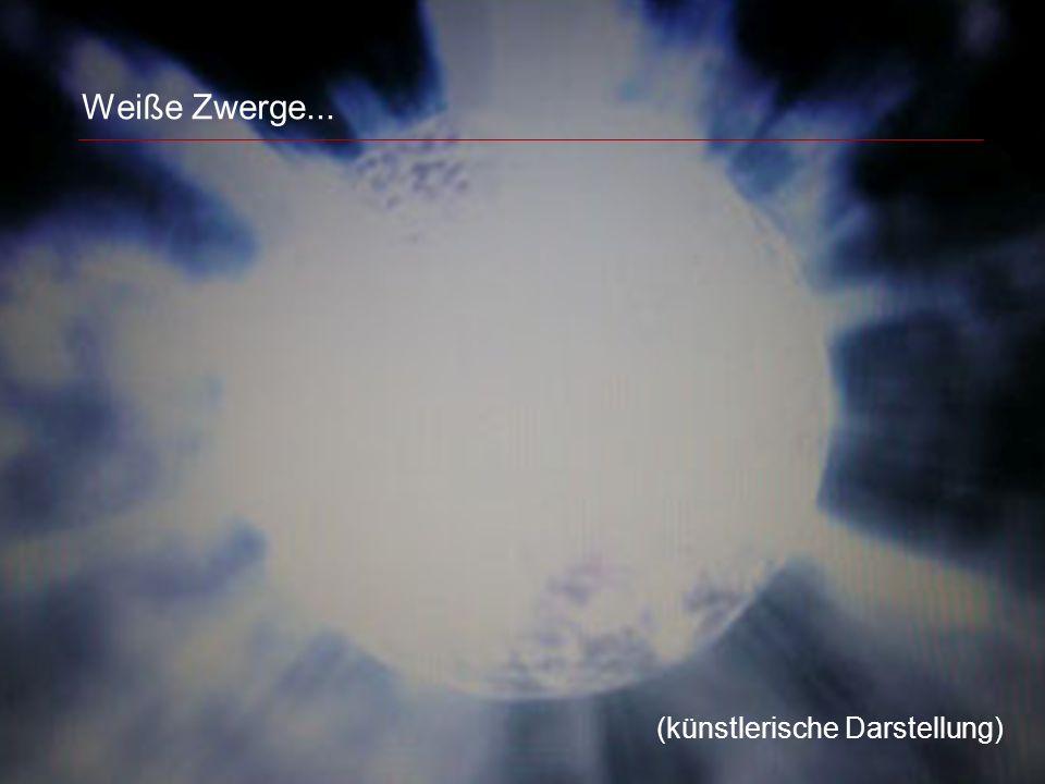 Weiße Zwerge... (künstlerische Darstellung)