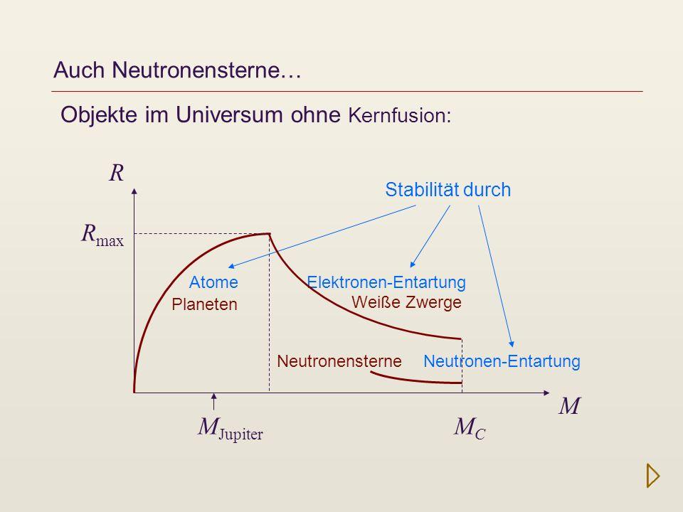Auch Neutronensterne…