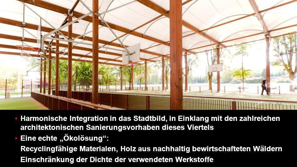 Harmonische Integration in das Stadtbild, in Einklang mit den zahlreichen architektonischen Sanierungsvorhaben dieses Viertels
