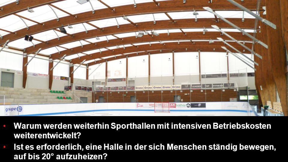 Warum werden weiterhin Sporthallen mit intensiven Betriebskosten weiterentwickelt