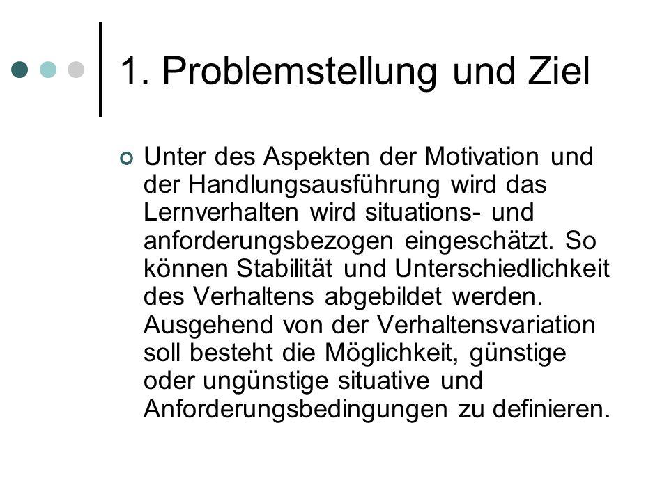1. Problemstellung und Ziel