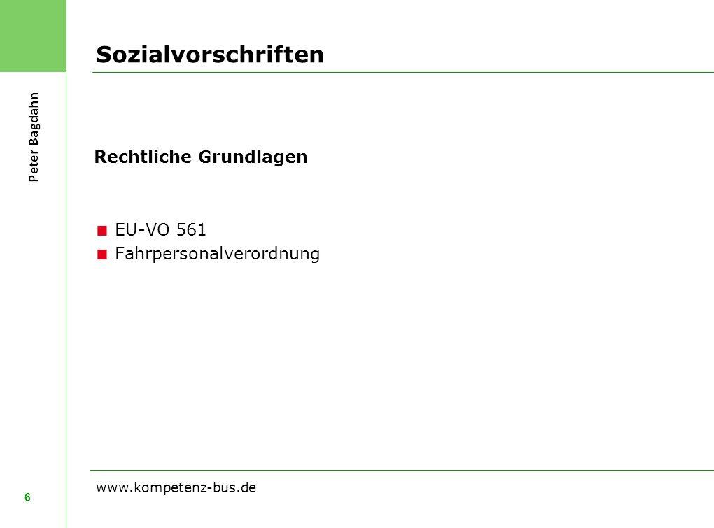 Sozialvorschriften Rechtliche Grundlagen EU-VO 561