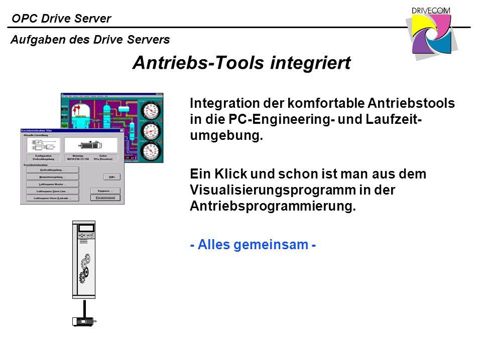 Antriebs-Tools integriert