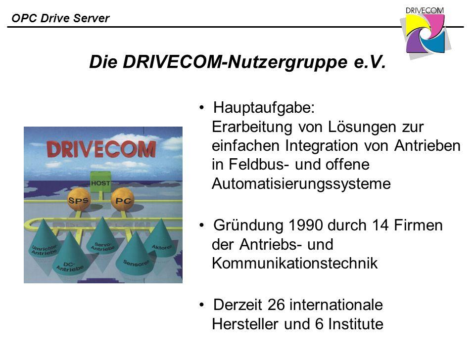 Die DRIVECOM-Nutzergruppe e.V.