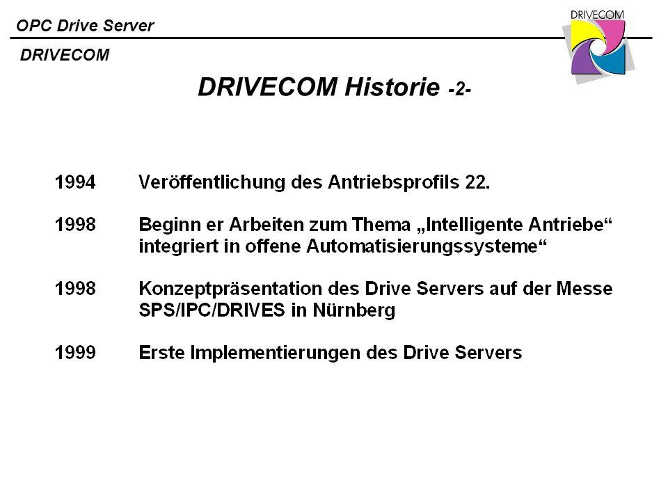 DRIVECOM DRIVECOM Historie -2-