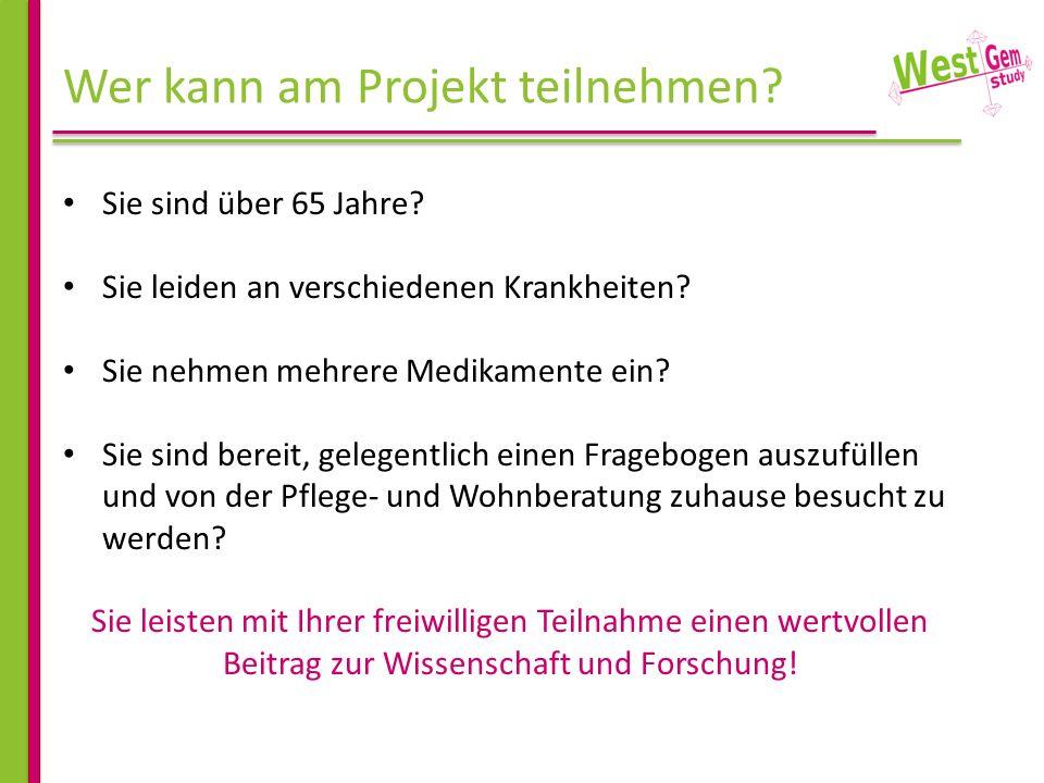 Wer kann am Projekt teilnehmen